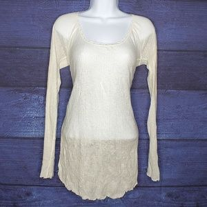 Semi Sheer Long Sleeve Blouse by Intimately FP